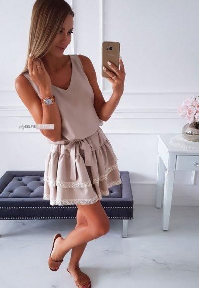 Sukienka KAYA beżowa