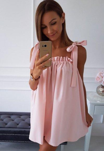 Sukienka PAULIN jasny róż 1