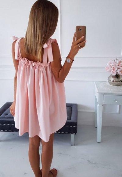 Sukienka PAULIN jasny róż 3