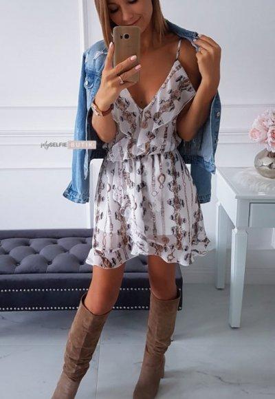 Sukienka ROSSA wężowy print 3