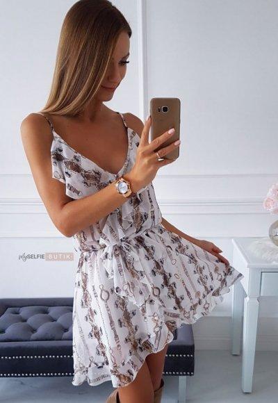 Sukienka ROSSA wężowy print 1