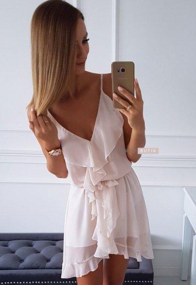 Sukienka ROSSA blady róż