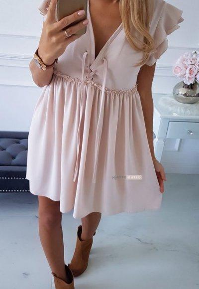 Sukienka FALL pudrowy beż 2