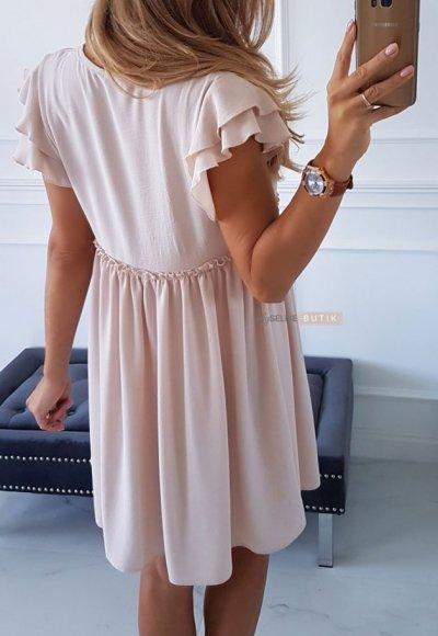 Sukienka FALL pudrowy beż 3