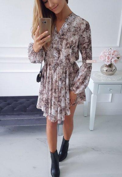 Sukienka MOSCOW cętki