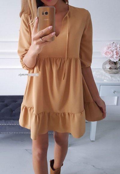 Sukienka ANTALYA musztardowa 3