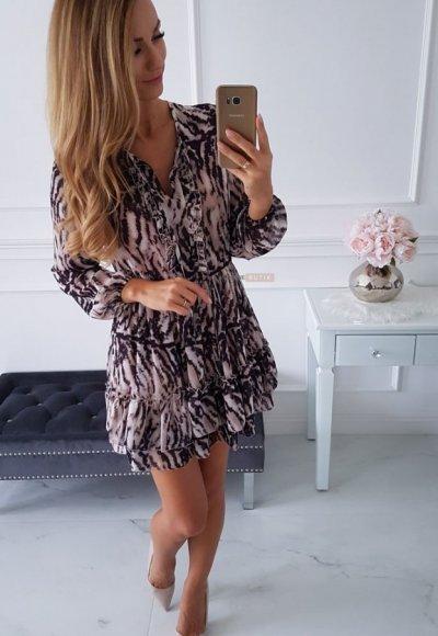 Sukienka TORRESA tygrysie paski