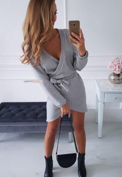 Sukienka CAPRI szara