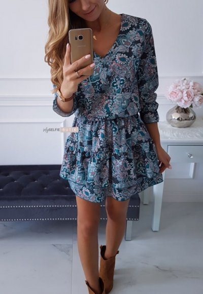 Sukienka MELODY szmaragdowa