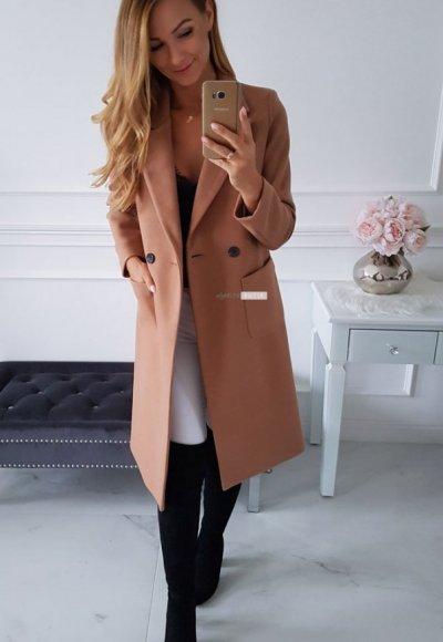 Płaszcz POCKET jasny camel