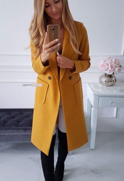 Płaszcz POCKET musztardowy