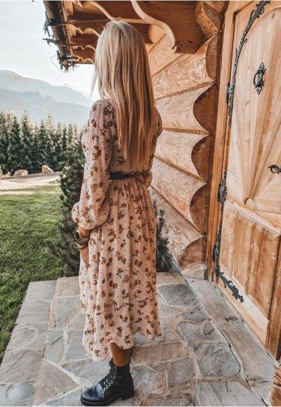 Sukienka AUGUST w kwiatowy wzór 2