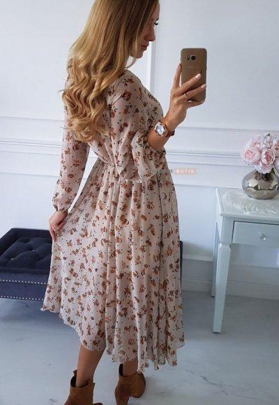 Sukienka AUGUST w kwiatowy wzór 3