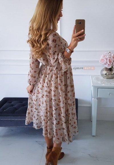 Sukienka AUGUST w kwiatowy wzór 4