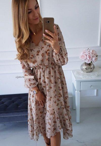 Sukienka AUGUST w kwiatowy wzór 5