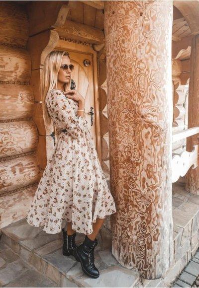 Sukienka AUGUST w kwiatowy wzór 6