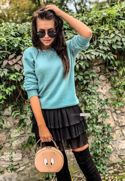 Sweter CARLA turkusowy 1
