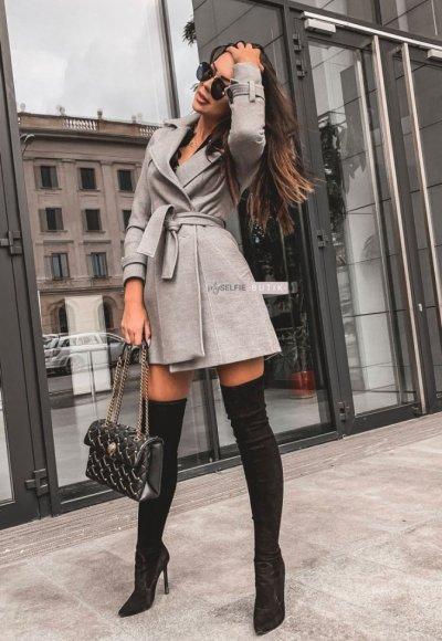 Płaszcz BROADWAY szary