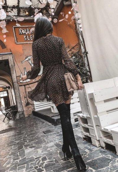 Sukienka MOSCOW czarna we wzory 2
