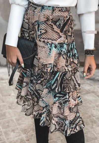 Spódnica PEONY wężowy print