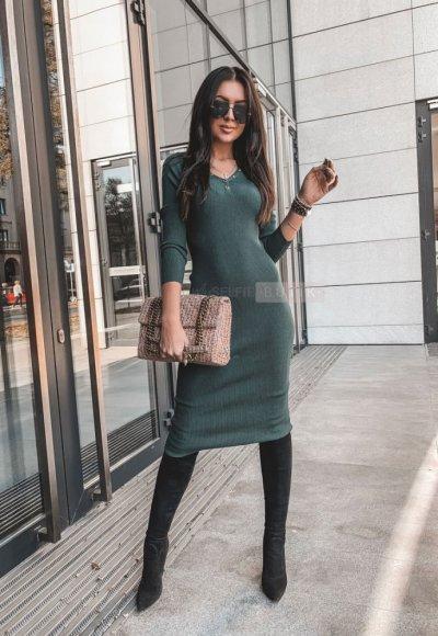 Sukienka ALLYSON zieleń butelkowa
