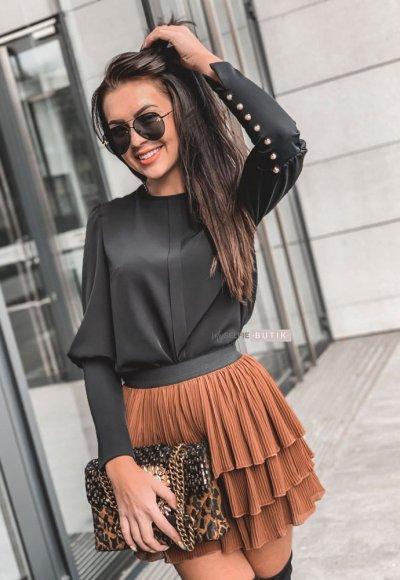 Koszula PERLA czarna