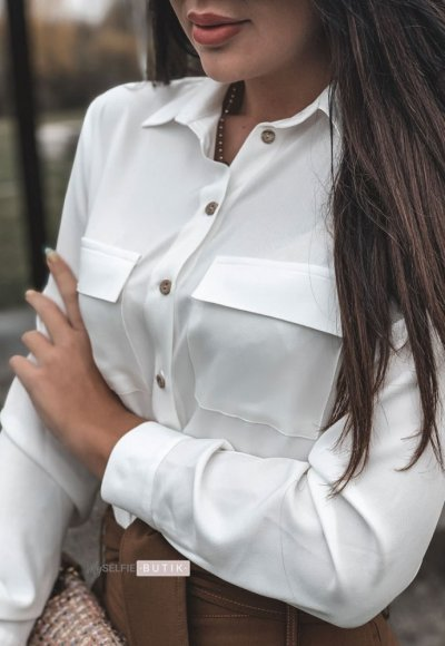 Bluzka POCKET biała