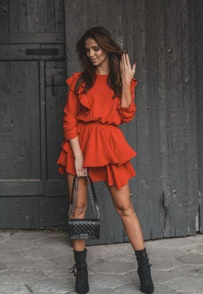 Sukienka VIOLETT czerwona