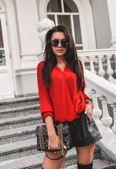 Bluzka MONICA czerwona