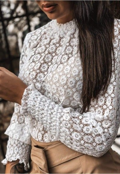 Bluzka STEFANIE biała