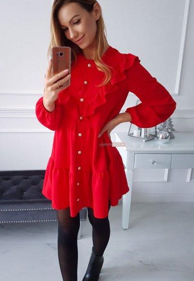 Sukienka LONGORIA czerwona