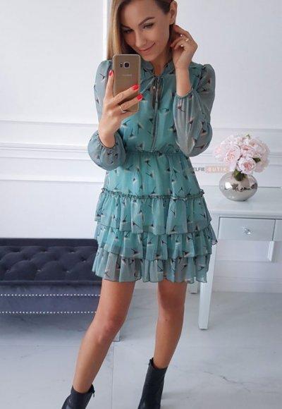Sukienka SWING mint 4