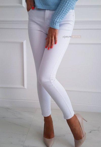 Spodnie SLIM białe