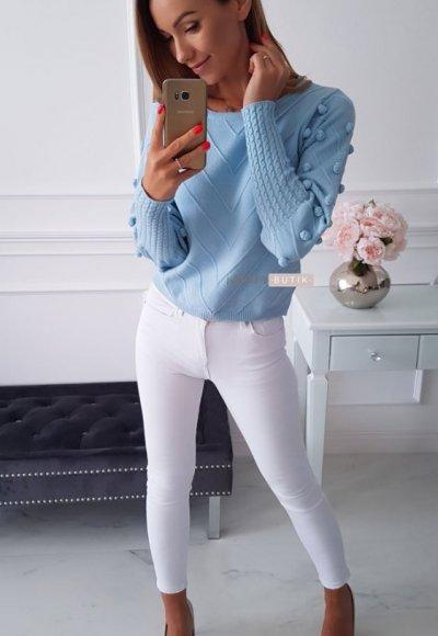 Sweter QUISS błękitny