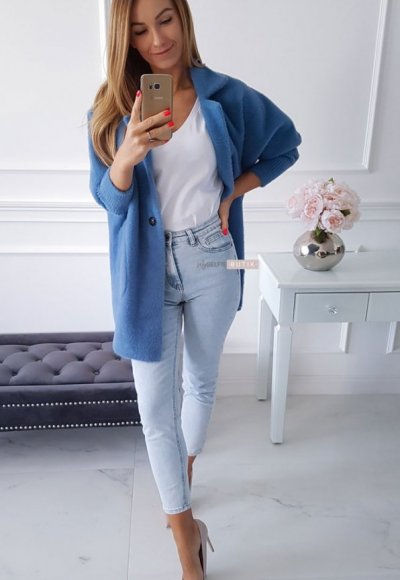 Płaszcz ALPAKA jeans 1