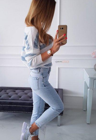 Spodnie ROLLER jasny jeans