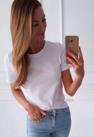 T-shirt SLEEV biały