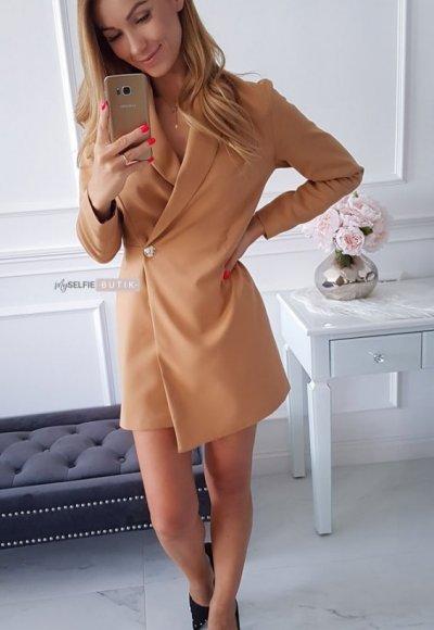 Sukienka VICTORIA karmelowa 2