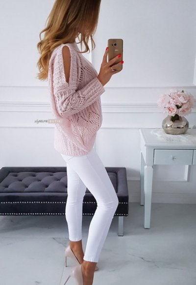 Sweter EMILY pudrowy 2