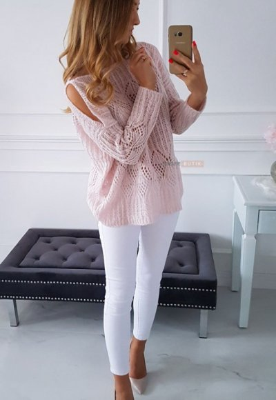 Sweter EMILY pudrowy 3