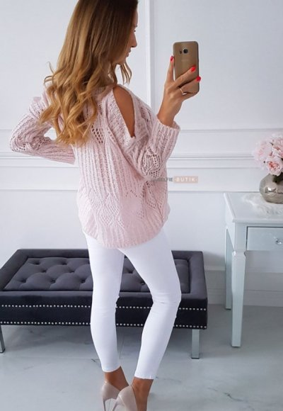 Sweter EMILY pudrowy 4