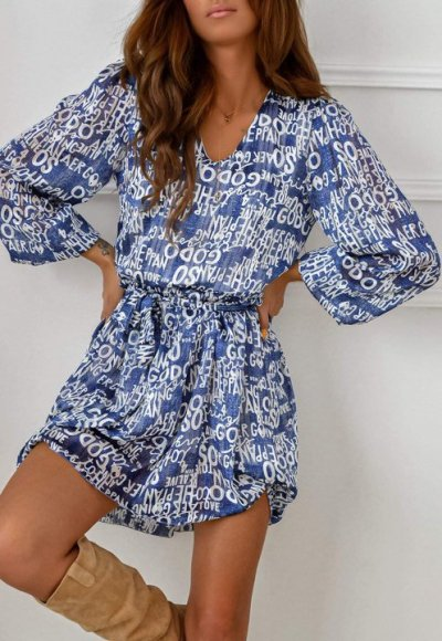 Sukienka DELICATE blue