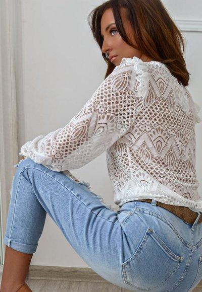 Bluzka BRIDGET white lace 1