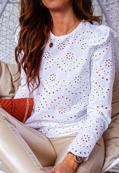 Bluzka PEONY white