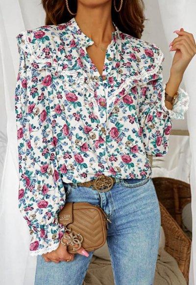 Bluzka AMELIA w kwiatowy wzór