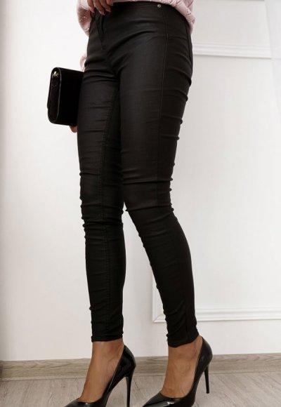 Spodnie ILLINOIS woskowane czarne 2