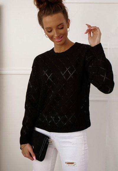 Sweter ROMBY czarny