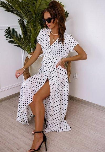 Sukienka DOTS biała