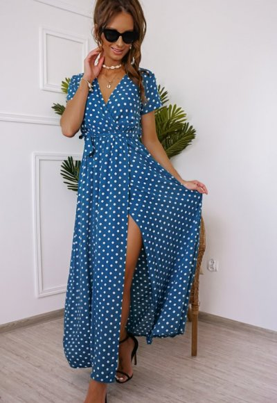 Sukienka DOTS niebieska