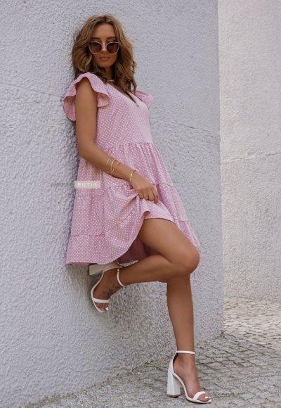 Sukienka MIA różowa w kropeczki